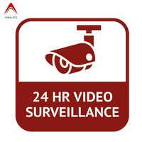 Aliauto-calcomanía del coche de personalidad CCTV, 24 horas de videovigilancia, divertida cubierta impermeable, accesorios para arañazos, pegatina de PVC, 15cm x 15cm