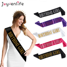 Birthday Girl Satin Ribbon Sash 20th 21st 30th 40th 50th Birthday Sash For Women Girl Happy Birthday Party Decorations Supplies