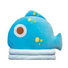 Мягкие плюшевые подушки для сна с имитацией акулы пуховая хлопковая