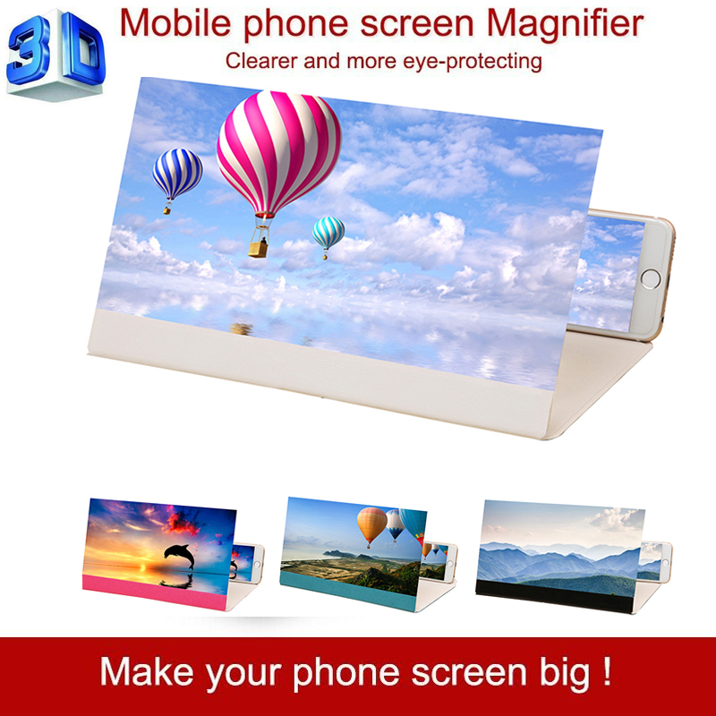 2 In1 3D Phone Screen Amplifier Mobile Phone Stand Holder For Your Mobile Phone Folding Screen Amplifier Phone Support Bracket