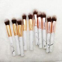 Tapered Highlighter Brush Blush Bronzer for Powder Cream Liquid Face Rose Gold Makeup Tool