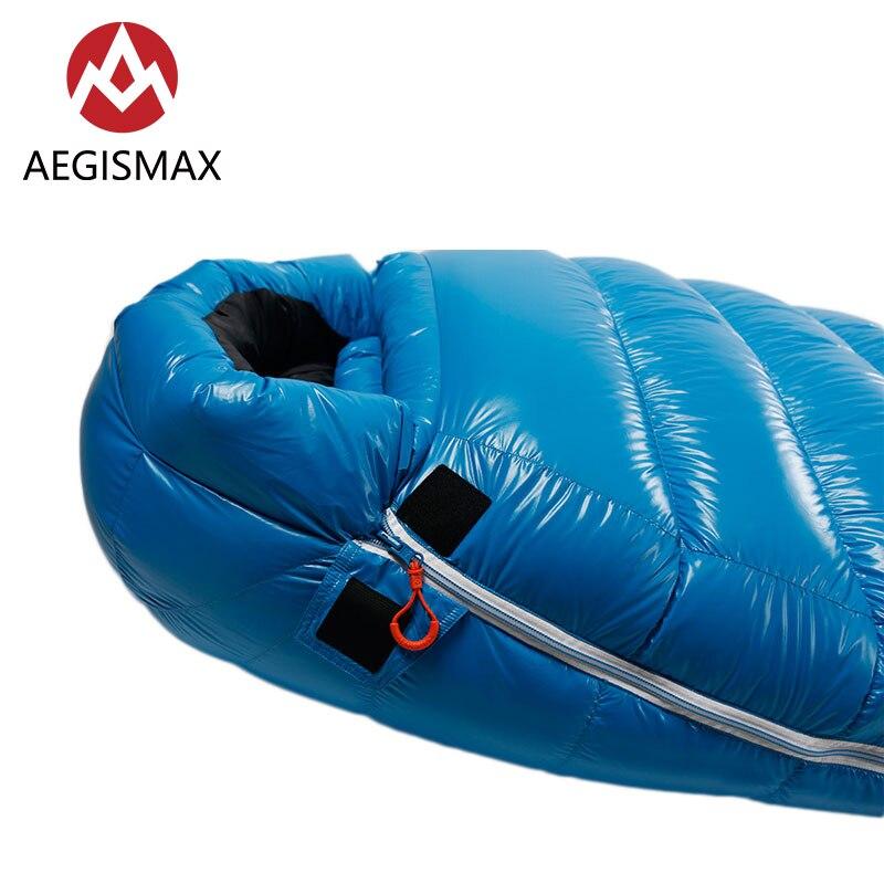 AEGISMAX G1 Outdoor Camping Ultra Light Mummy White Goose Down Sleeping Bag Spring Autumn Nylon Lazy Sleeping Bag in Sleeping Bags from Sports Entertainment