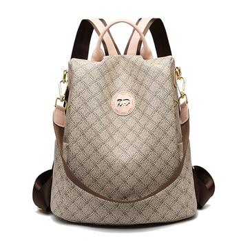 2020 New Women Backpack Spring Youth Leather Backpacks for Teenage Girls Female School Shoulder Bag Luxury Bagpack mochila sac