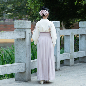 Image 5 - Traditional Japanese Kimono Woman Retro Floral Fashion Haori Clothing Set Spring Oriental Party Photography Clothes for Girls