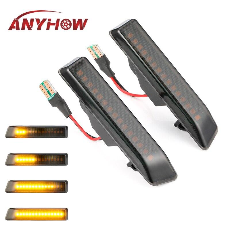 2 ชิ้น LED แบบไดนามิกไฟเลี้ยวด้านข้างไฟไหล LED ด้านข้าง Repeater สำหรับ BMW E36 สำหรับ BMW X5 e53 สำหรับ BMW 3 Series