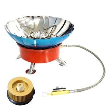 4 Type Windproof Stove Cooker Cookware Gas Burners For Camping Picnic Cookout Bbq D цена 2017