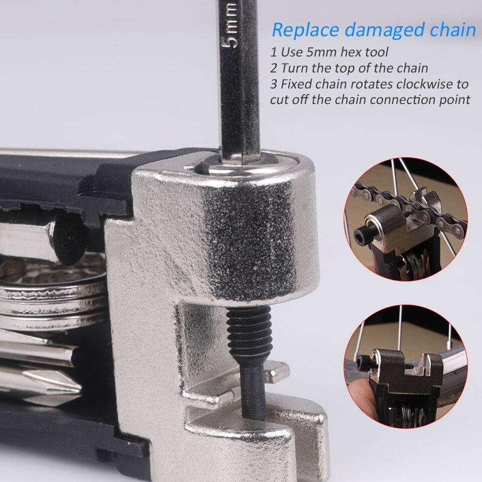 18 in 1 bike bicycle multi repair tool set kit hexagon screwdriver wrench seSEAU
