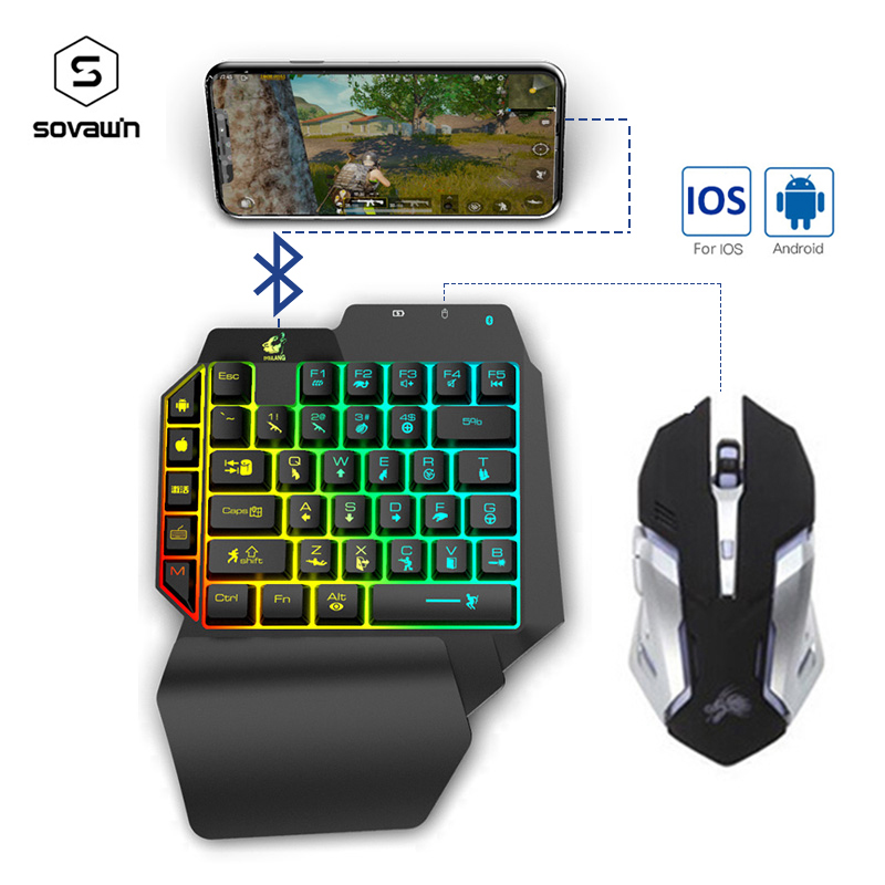 PUBG Mobile Gamepad Controller Single hand Gaming Keyboard Mouse Converter For IOS Android to PC Bluetooth4.2 For Fortnite Games