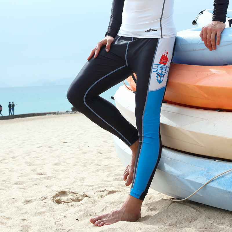 Sabolay Hot Models Men Snorkeling Suit Set Sun-proof Trousers Waterproof Mother Swimming Pants Nk009