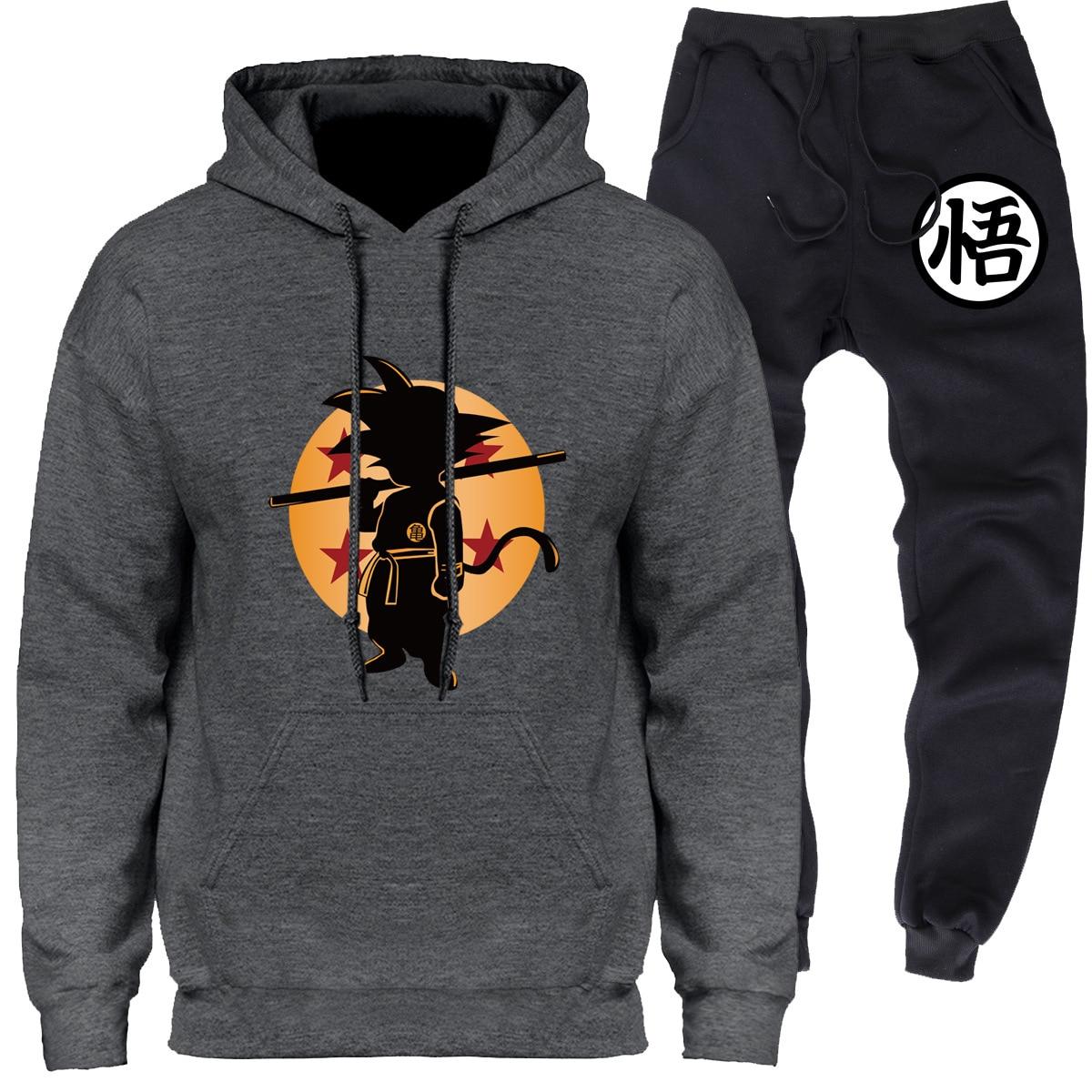 Saiyan People Hoodie Goku Dragon Ball Japanese-style Running Sports Clothing Set Hot Selling Men'S Wear