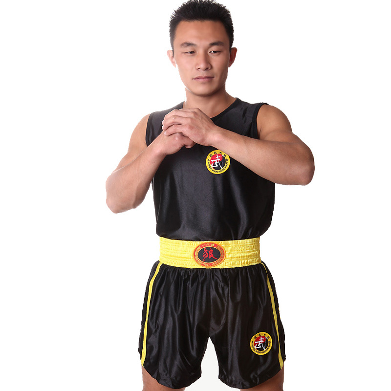 Generation Wolf Boxing Clothes For Sanda Set Martial Arts Wear Fighting Muay Thai MMA Shorts Vest Men And Women Game Training Su