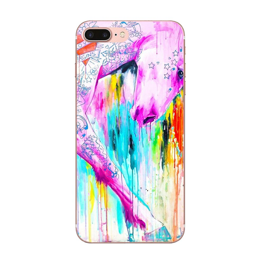 For Samsung Galaxy Note 8 9 10 Pro S4 S5 S6 S7 S8 S9 S10 S11 S11E S20 Edge Plus Ultra Cover Rainbow Horse Puke Unicorn Love