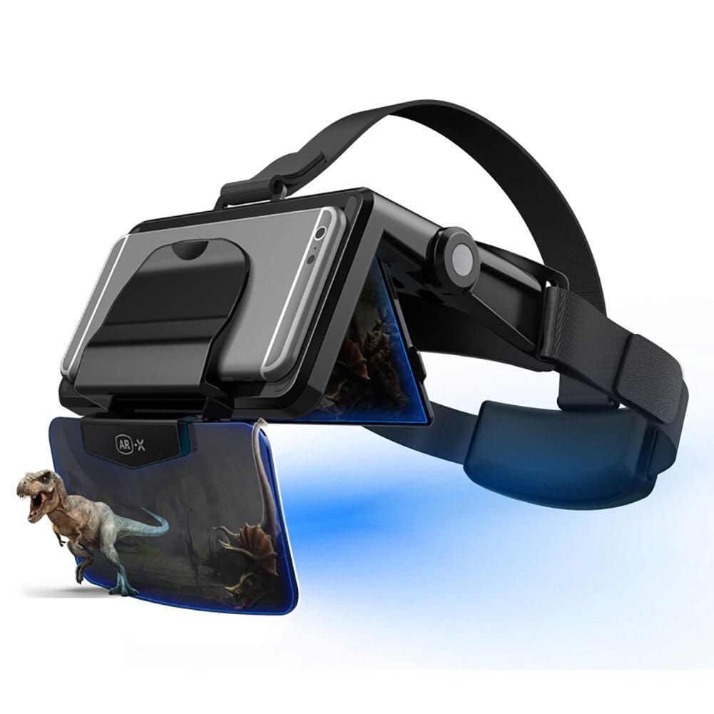 AR Glasses – casque d'écoute 3D VR, lunettes de réalité virtuelle, casques VR en carton pour téléphone de 4.7 à 6.3 pouces