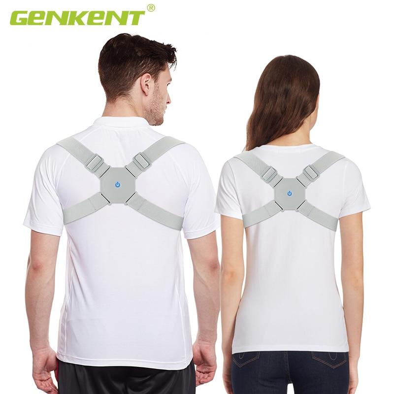 Adjustable Intelligent Posture Trainer Smart Posture Corrector Upper Back Brace Clavicle Support for Men and Women Pain Relief 1