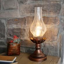 Clásico vintage queroseno lámparas de mesa para habitación Industrial casa deco luces de noche de vidrio de pantallas para lámparas de iluminación Accesorios