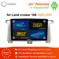 Ownice K3 K5 K6 8 Core Android 8.1 2Din Car Radio DVD GPS Navigation for Toyota Land cruiser 100 LC100 / Lexus LX470 2005 2007