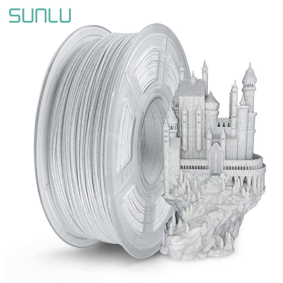 SUNLU PLA Marble Filament For 3D Printer 1.75MM Plastic PLA Rock Texture 3D Filament