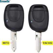 1 botão inteligente remoto chave caso escudo fob para renault clio ii símbolo kangoo ne72 ou va2 sem corte lâmina
