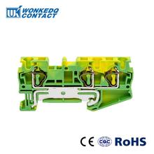 10Pcs ST-4TWIN PE  Instead of PHOENIX CONTACT Connectors Return Pull Type Three Conductor Spring Ground Terminal Blocks