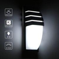 8 Вт круглый настенный светильник наружный водонепроницаемый светодиодный настенный светильник Ac90-260v алюминиевый дворовый сад крыльцо кор...