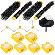 14Pcs/Set Side Brush Wheel Main Brush Filter For Irobot Roomba 700 760 770 780 все цены
