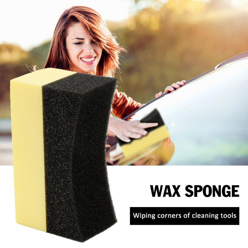 5pcs Car Wax Polishing Sponge Multifunctional Car Wheels Brush Tire Hub Waxing Sponge Cleaner Handheld Tire Waxing Sponge