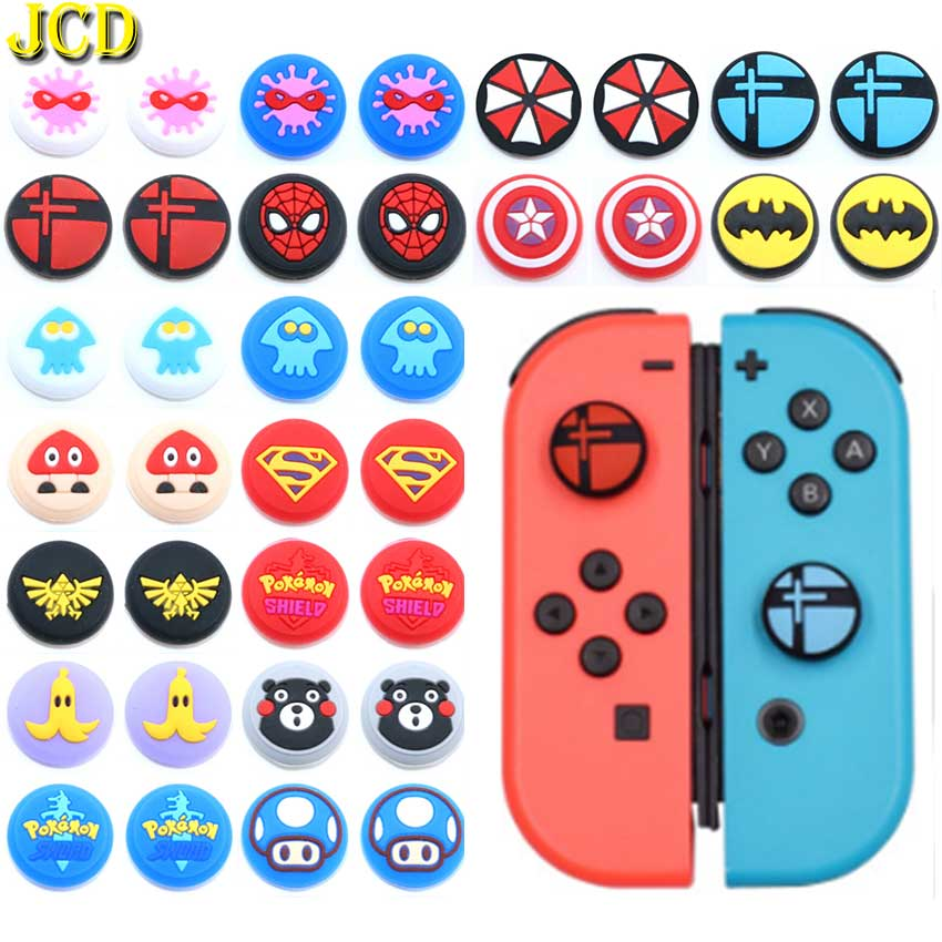 JCD 2PCS Silicone Thumb Grips Cover Case For Nintend Switch Lite NS Joy-Con Analog Stick Caps Skin For JoyCon Joystick Grip