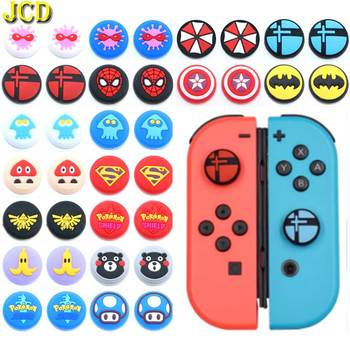 JCD 2PCS Silicone Thumb Grips Cover Case for Nintend Switch Lite NS Joy-Con Analog Stick Caps Skin for JoyCon Joystick Grip ivyueen 5 in 1 for nintend switch ns console handle grip protective cover with 4 thumb stick caps case for joy con controller