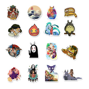 Image 5 - 50 Pcs/Lot Japanese Movie My Neighbor Totoro Cute Stationery Stickers for Car Laptop Notebook Luggage Decal Fridge Skateboard