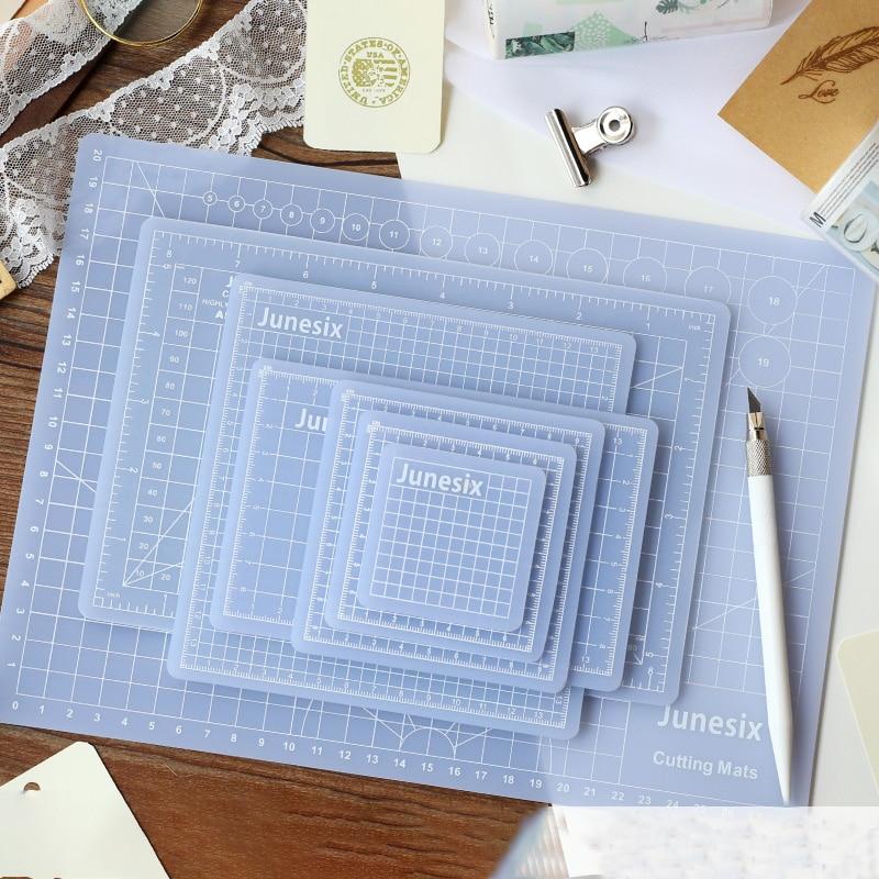 Semi-transparent Pad Board Pvc Cutting Board Hand Account Diy Intermediary Knife Pad Mini Transparent Self-healing A4Cutting Pad
