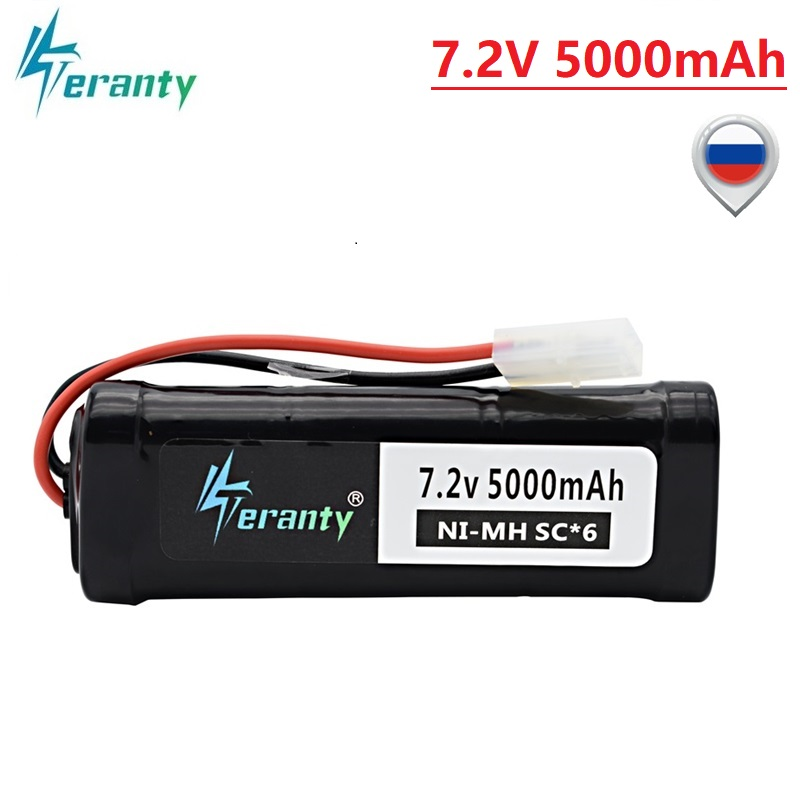 SC*6 Cells 7.2V 5000mAh 15c With Tamiya Plug Rechargeable Ni-MH Battery Pack For RC Remote Control Toys RC Cars 7.2 V Battery