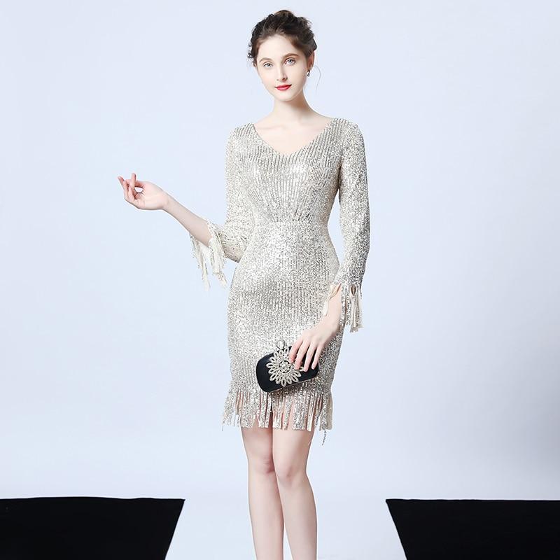 Party Dresses Simple V-neck