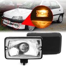 Par 12v frente luz de nevoeiro spotlamp luz condução drl led iluminação sim 3211 para peugeot 205 gti cti 106 306 mi16 h3