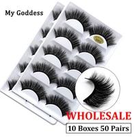 wholesale 50 pairs mink eyelashes natural 3d mink lashes mink false lashes false eyelashes full strip lashes cilios faux cils G8