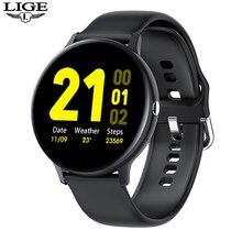 ליגע Bluetooth שיחת שעון חכם לצפות עבור גברים ונשים מלא מגע גשש כושר לחץ דם חכם שעון גבירותיי חכם שעון