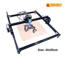 Grabador láser de alta precisión para escritorio, máquina cortadora de grabado de madera CNC de 2 ejes, 40x50cm, 0,5 W-15W