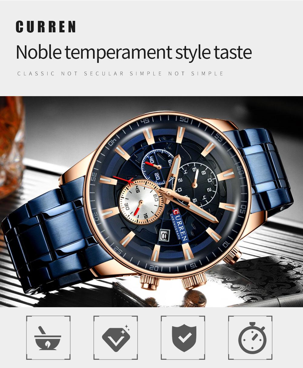 Ha38b26f37b464d97b4ae5fb9b7660fc9k Men's Watches CURREN Top Luxury Brand Fashion Quartz Men Watch Waterproof Chronograph Business Wristwatch Relogio Masculino