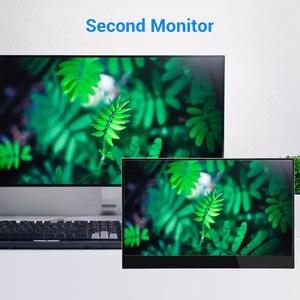 """Image 5 - Eyoyo EM15F 15.6 """"przenośny ekran dotykowy HDMI LCD Monitor gamingowy IPS FHD 1920x1080 HDR typ USB C wyświetlacz na telefon PC Xbox one"""