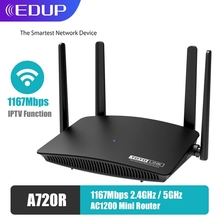 EDUP TOTOLINK 1200M WiFi Router Dual Band 11AC 2.4GHz/5GHz 4 Antennas Wireless Network Repeater A720R Support APP Manage IPTV