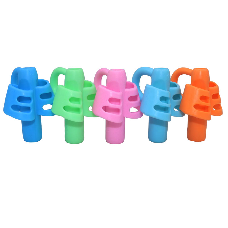 100 Pcs Pen Grips Three-Finger Silicone Pen Holder Children Writing Correction School Student Supplies Writing Auxiliary Clip