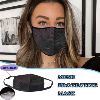 1pc masque Adult Reusable Face Mask Three Layer Of Woven Special Fabric Masks Washable Reusable Facemask маска на лицо тканевая