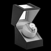 EU US AU Stecker Automatische Mechanische Uhr Wicklung Box Motor Shaker Uhr Wickler Halter Display Schmuck Lagerung veranstalter Neue cheap KINYUED CN (Herkunft) 12cm Automatik Uhr 13cm Leather 22cm Neu mit Etiketten 800g 16cm