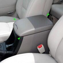 Auto Pu Leer W/Spons Center Controle Armsteun Pad Cover Sticker Trim Voor Toyota Prado 2002 2003 2004 2005 2006 2007