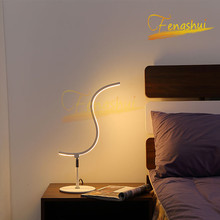 Modern LED Special-shaped Table Lamp Lighting Fixtures Modern Table Light Tri-color Light Source Lamps Attic Indoor Reading Lamp