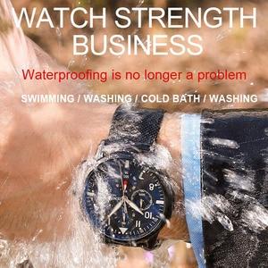 Image 4 - Мужские спортивные часы JENISES, Топ бренд, Модные Военные часы с хронографом, Автоматическая Дата, кварцевые часы с кожаным ремешком, мужские часы Relogio Masculino