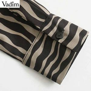 Image 5 - Vadim Nữ Vintage Họa Tiết Hình Thú Đầm Midi Tay Dài Thắt Nơ Buộc Tất Casual Nữ Kiểu Dáng Thời Trang Sang Trọng Áo Vestidos QD159