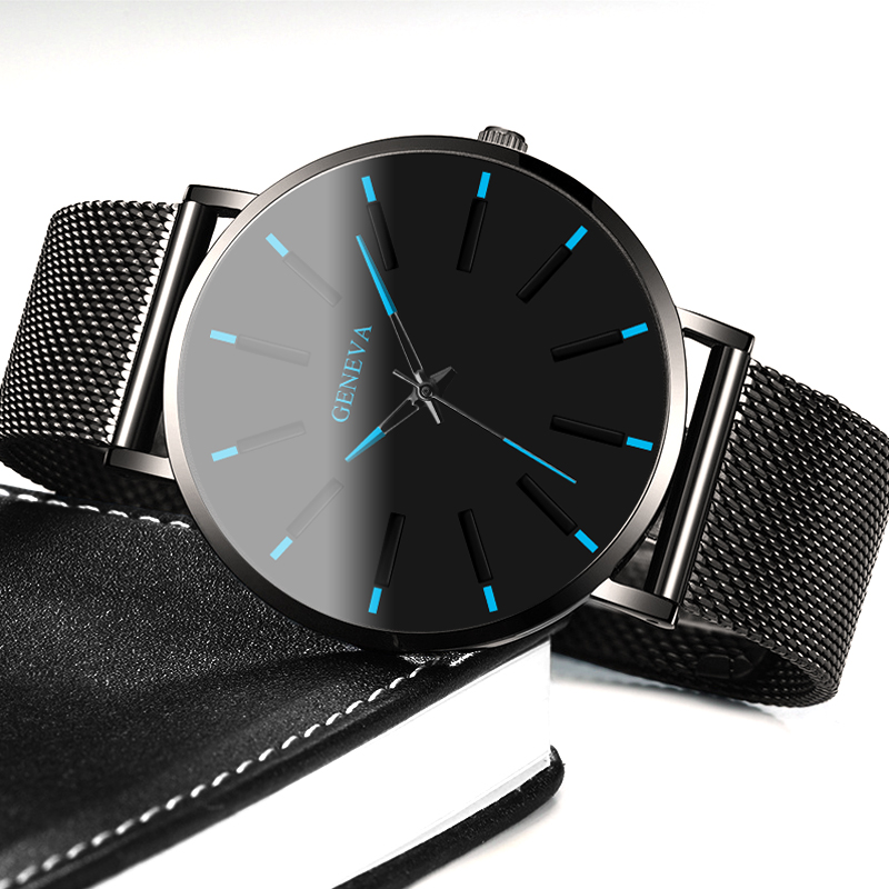 Relogio Masculino Simple Women Men Watches Stainless Steel Mesh Quartz Wristwatches Fashion Clock ladies Watch Montre Femme 2019