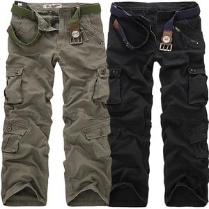 Image 2 - LIFENWENNA, осенние мужские брюки карго, камуфляжные брюки, военные брюки для мужчин, 7 цветов, мужские брюки с карманами