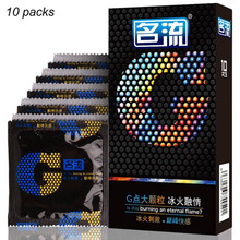 Mingliu 10pcs G-spot Condom Delay Ejaculation Big Particle Floating-Points Stimulation Safe Contraception Sex Toy For Men