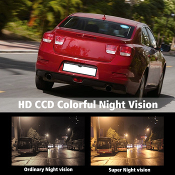 Hot European License Plate Frame Backup Camera Rear View Camera with Reversing Radar System Parking Sensor Car Accessories